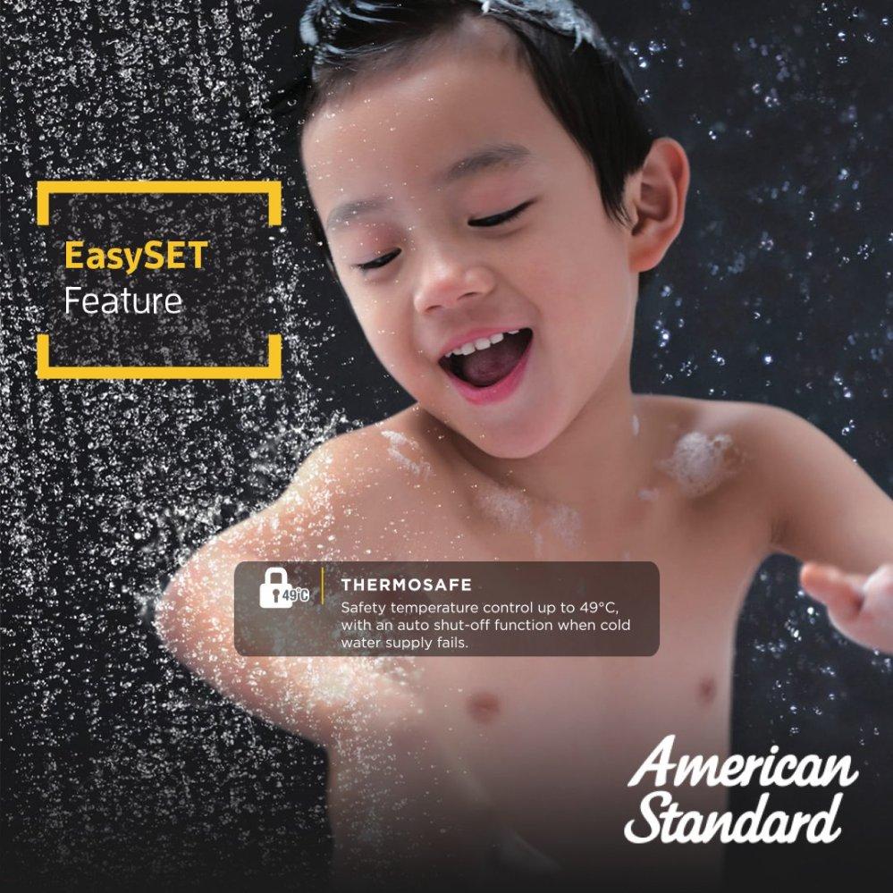 easy set aman buat anak anak karena termperatur terus terjaga kamar mandiku