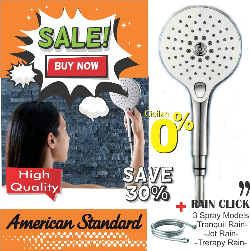 american stadnard produk terbaru rain click kamarmandiku bath shower