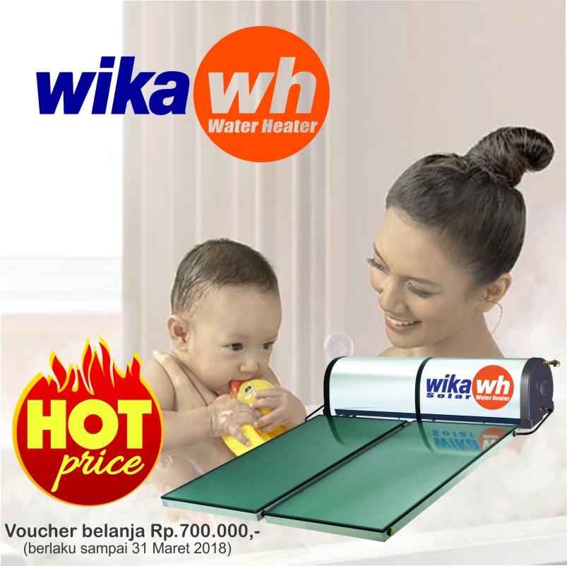 promo heboh banner kamarmandiku wika solar water heater pemanas air tenaga surya free voucher 800 alat dapur