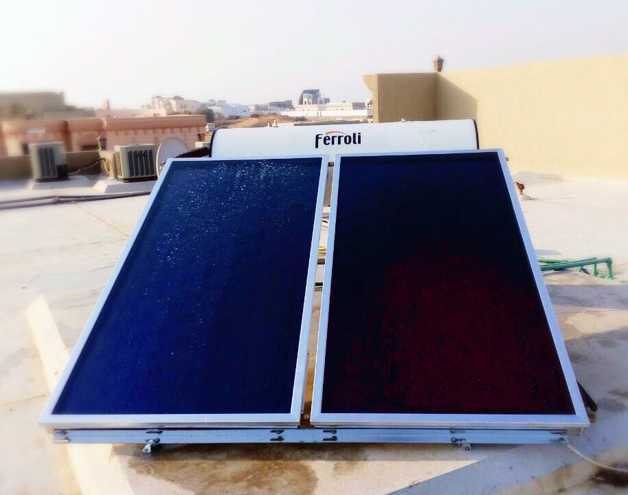 ferroli solar pemanas air tenaga surya