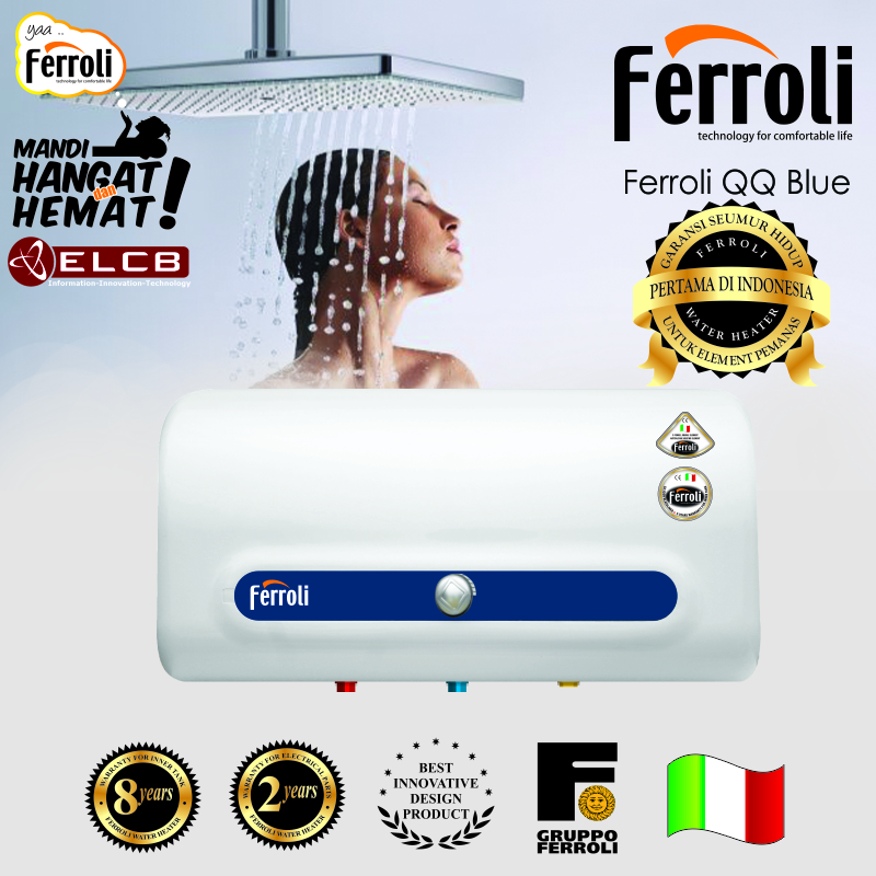 water heater ferroli QQ blue -kamarmandiku homesweethome